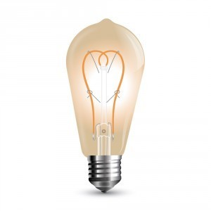 Led Filament ST64 amber Cover E27 5W