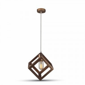 Hanglamp geometric squere champagne