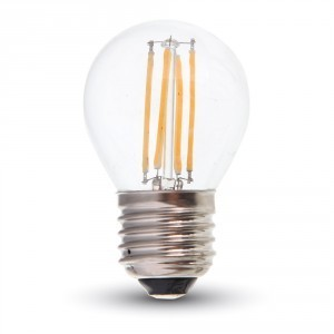 Led filament lamp G45 E27 4W Ww 400 Lm
