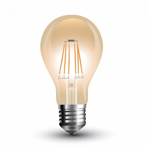 Led filament lamp E27/A60 4W bulb amber 350 Lumen