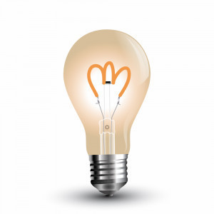 Led filament lamp E27/A60 4W bulb amber 300 Lumen