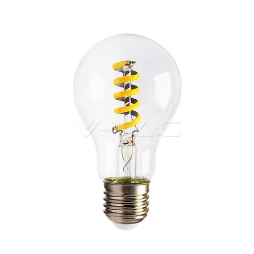 Led filament lamp E27/A60 4W bulb amber 360 Lumen