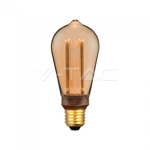 Led Art Filament Amber Cover E27 4W