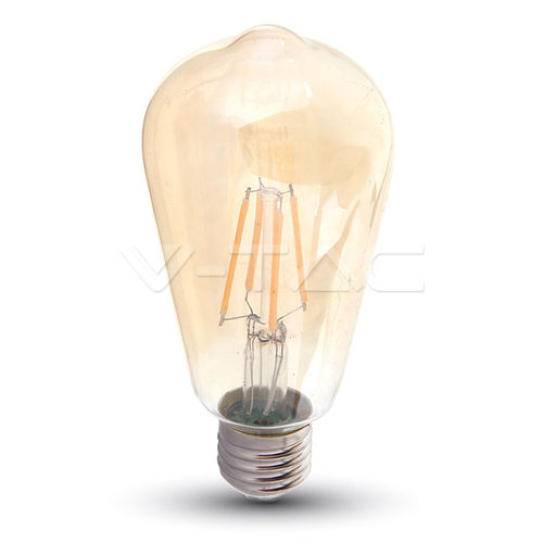 Led Filament Amber Cover E27 6W